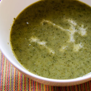 Creamy Lettuce and Garlic Scape Soup