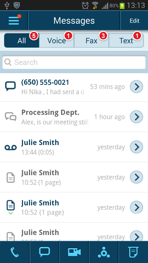 RingCentral - screenshot
