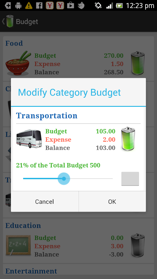AndroMoney ( Expense Track ) - screenshot