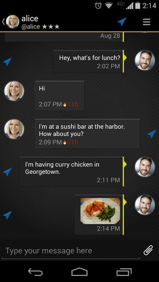 Silent Text - secure messages - screenshot