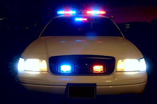 警車警笛和燈光