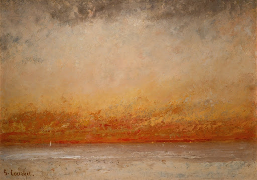 Soleil couchant marine gustave courbet google arts culture - Soleil couchant victor hugo ...
