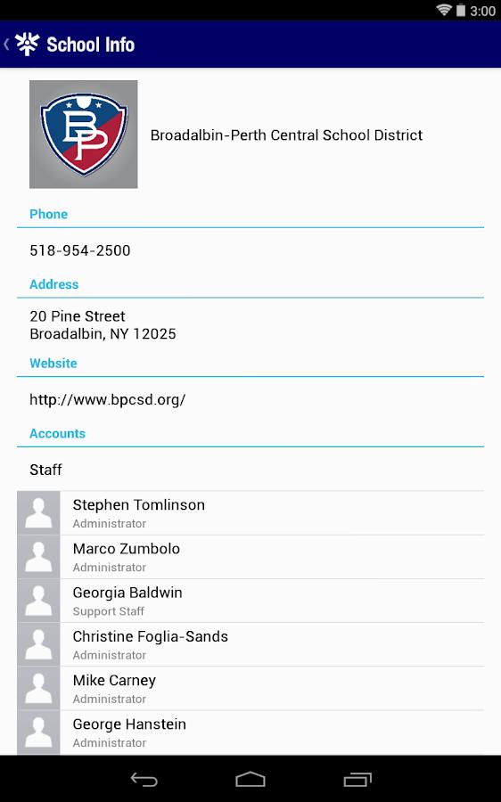 Broadalbin-Perth CSD- screenshot