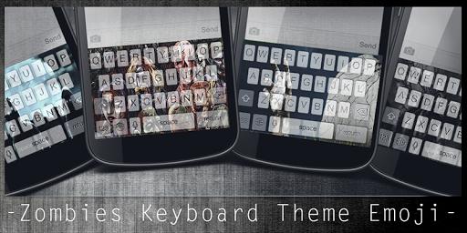 Zombies Keyboard Theme Emoji
