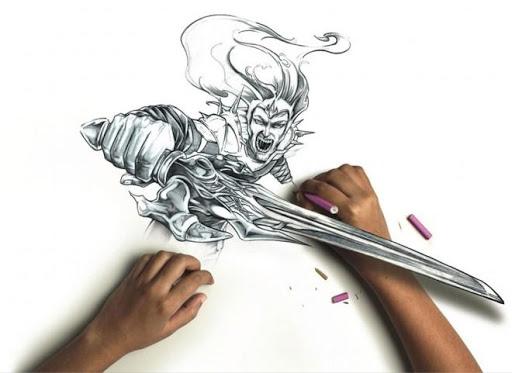 鉛筆素描3D