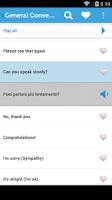 Screenshot of Learn Italian Phrasebook