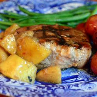 Momma Pritchett's Grilled Pork Chops and Apple-Pear Topping.