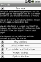 Screenshot of WebSpeak