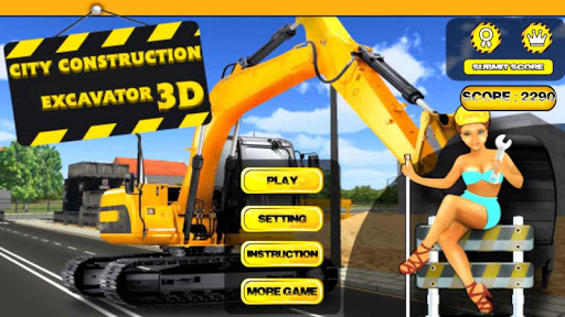 City Construction Backoe 3D