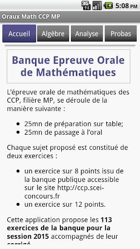 Oraux CCP MP