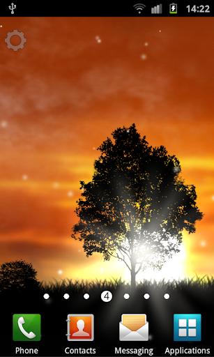 Sunset Silhouette LWP