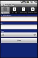 Screenshot of ZIP Code Lookup