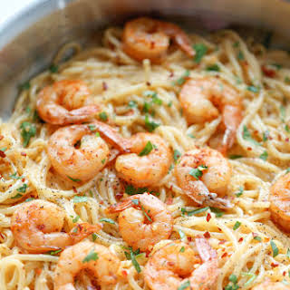 Shrimp With Red Sauce And Pasta Recipes.