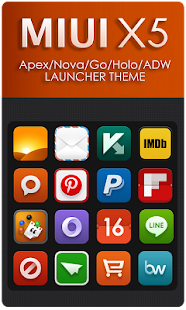 MIUI X5 HD Apex/Nova/ADW Theme- screenshot thumbnail