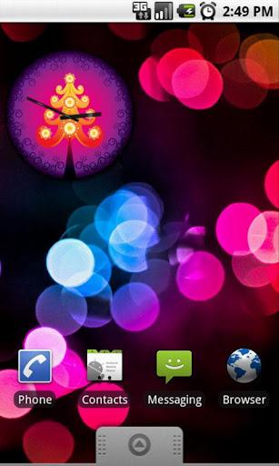 Xmas Pink Tree Clock