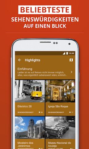 Screenshot 2 Lissabon Reiseführer