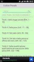 Screenshot of Codice Penale Italiano 2013