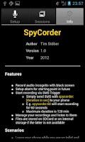 Screenshot of SpyCorder - Voice Recorder