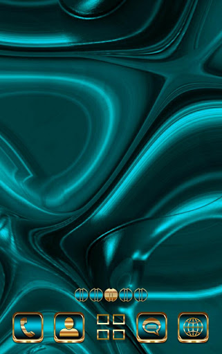 Abstract Turquoise Go Launcher