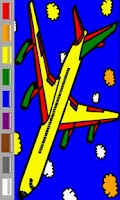 Screenshot of Planes Coloring Book For Kids