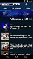 Screenshot of NBC Nightly News