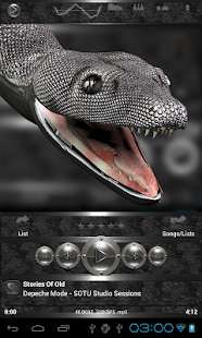 poweramp skin black snake Screenshot 2