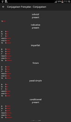French Conjugation - screenshot