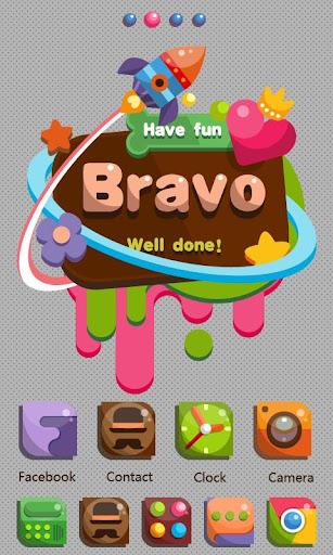 Bravo GO Launcher Theme