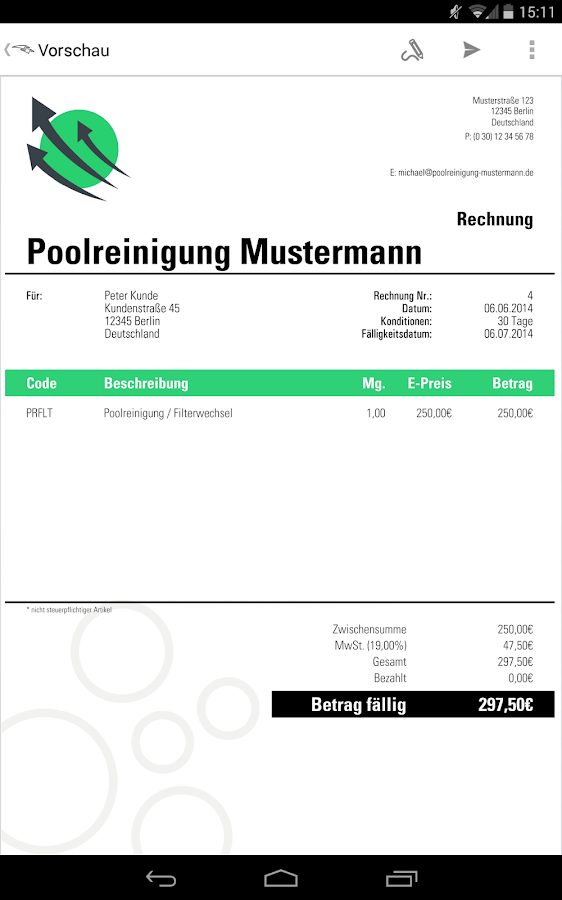 rechnung angebot invoice2go android apps auf google play. Black Bedroom Furniture Sets. Home Design Ideas