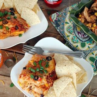 Chicken Enchilada Lasagna For A Crowd