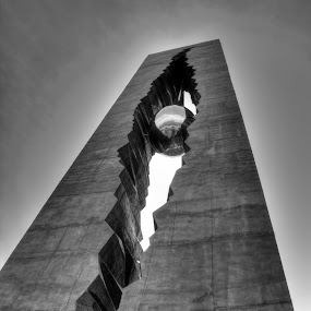 Tear Drop Monument by Ward Vogt - Buildings & Architecture Statues & Monuments ( gift, september 11, 9/11, black and white, 911, photography, tear drop, new jersey, bayonne, russia, tear, nj, ward vogt )