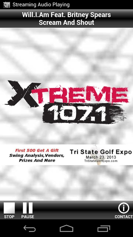 Xtreme 107.1 - screenshot