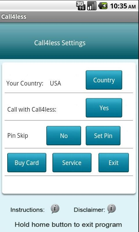 Call4less Android App- screenshot