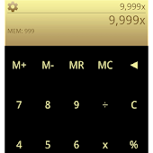 SCalc FlatUI Holo Gold theme