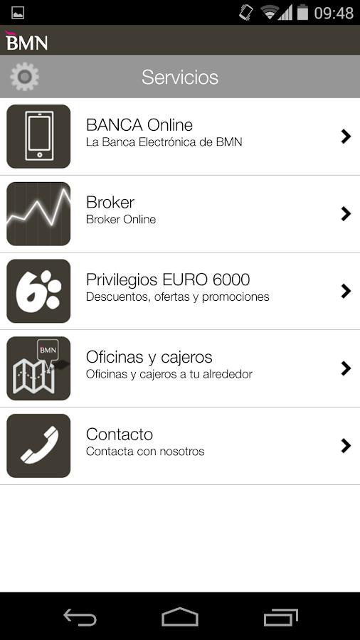 BMN Banca Online - screenshot
