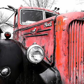 Old Litte Mack by Sue Delia - Transportation Other ( bulldog, old, grill, truck, mack,  )