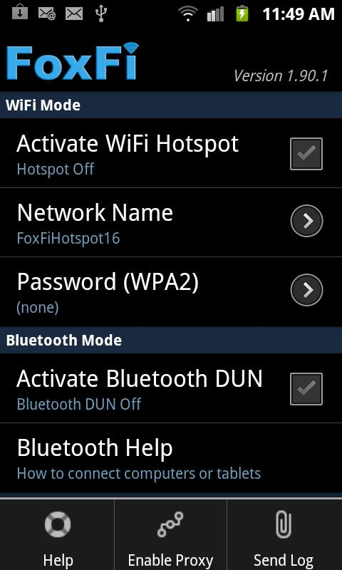 FoxFi AddOn - screenshot