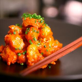 Shrimp Tempura with Creamy Spicy Yuzu Sauce.