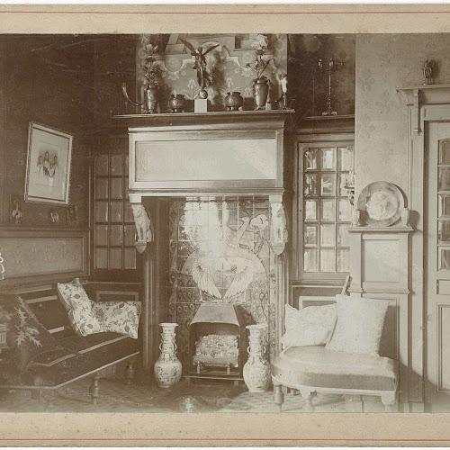 Interieur van een woonkamer rond 1900 anoniem 1880 for Interieur 1900