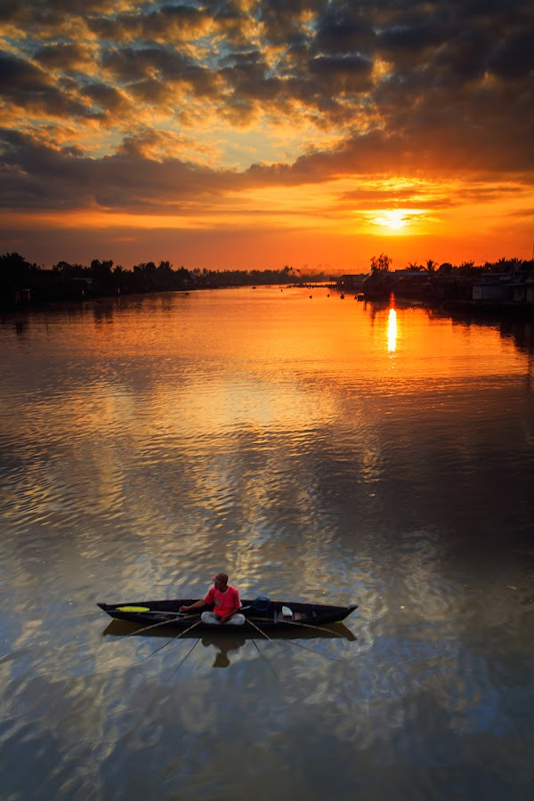 Fishing by Bambang Pawiroredjo - Landscapes Sunsets & Sunrises
