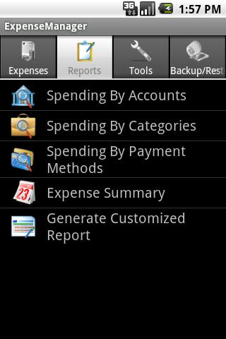 ExpenseManager - screenshot