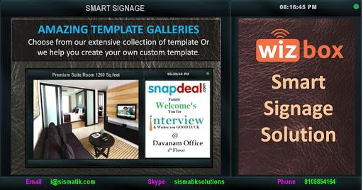 Smart Signage Wizbox Sismatik