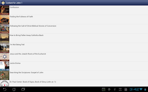 Catholic Study Bible App- screenshot thumbnail