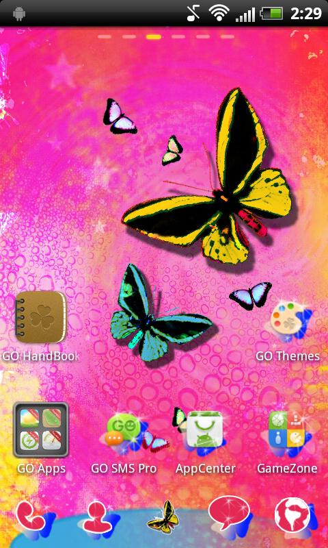 Butterfly GO Launcher Theme- screenshot