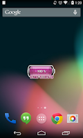 Screenshot of [Battery Theme] Bubbles Pink