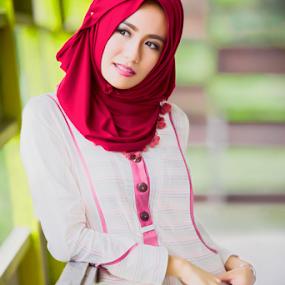 Fleeting Love by Hendra Sulistyawan - People Portraits of Women ( pink hijab casual lady beauty )