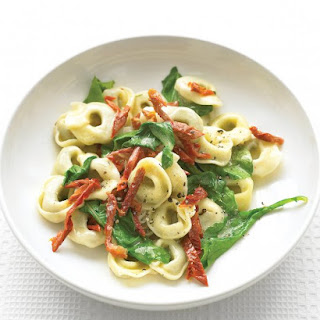 Beef Tortellini with Arugula and Sun-Dried Tomatoes.