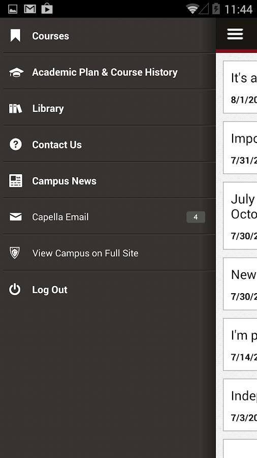 Capella Mobile - screenshot