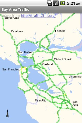 Bay Area Traffic- screenshot