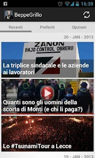 Beppe Grillo Blog Italian news - screenshot thumbnail